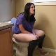 A plump girl is recorded taking a runny-sounding shit while sitting on a toilet. Warning - this studio is notorious for dubbing in audio effects, so parts of this clip may not be genuine, live audio. 720P HD. Over 7 minutes.